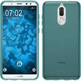 Silicone Case Mate 10 Lite transparent turquoise Case