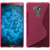 Silicone Case for Huawei Mate 8 S-Style hot pink