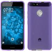 Silicone Case for Huawei Nova transparent purple