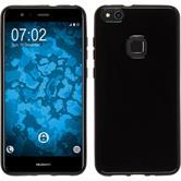 Silicone Case P10 Lite  black + protective foils