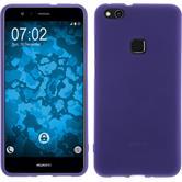 Silicone Case P10 Lite matt purple + protective foils