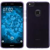 Silicone Case P10 Lite transparent purple + protective foils