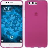 Silicone Case P10 matt hot pink + protective foils