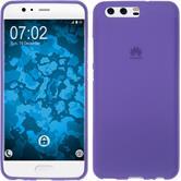 Silicone Case P10 matt purple + protective foils