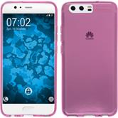 Silicone Case P10 Plus transparent pink Case