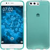 Silicone Case P10 Plus transparent turquoise Case