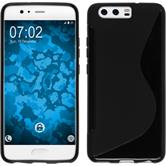 Silicone Case P10 S-Style black + protective foils