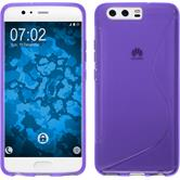 Silicone Case P10 S-Style purple + protective foils
