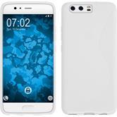 Silicone Case P10 S-Style white + protective foils