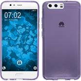 Silicone Case P10 transparent purple + protective foils