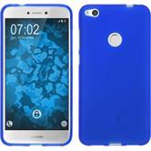 Silicone Case P8 Lite 2017 matt blue + protective foils