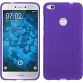 Silicone Case P8 Lite 2017 matt purple + protective foils