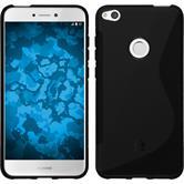 Silicone Case P8 Lite 2017 S-Style black + protective foils