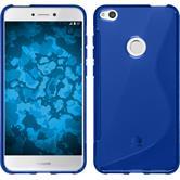 Silicone Case P8 Lite 2017 S-Style blue + protective foils