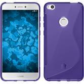 Silicone Case P8 Lite 2017 S-Style purple + protective foils