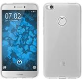 Silicone Case P8 Lite 2017 transparent Crystal Clear + protective foils