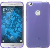 Silicone Case P8 Lite 2017 transparent purple + protective foils