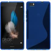 Silicone Case for Huawei P8 Lite S-Style blue