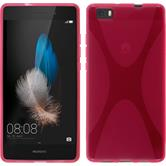 Silicone Case for Huawei P8 Lite X-Style hot pink