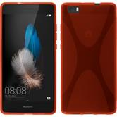 Silicone Case for Huawei P8 Lite X-Style red