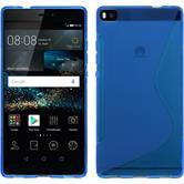 Silicone Case for Huawei P8 S-Style blue