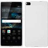 Silicone Case for Huawei P8 S-Style white