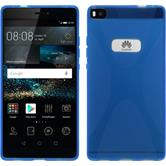 Silicone Case for Huawei P8 X-Style blue