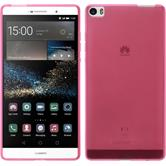 Silicone Case for Huawei P8max transparent pink