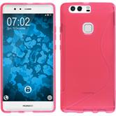 Silicone Case for Huawei P9 Plus S-Style hot pink