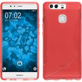 Silicone Case for Huawei P9 S-Style red