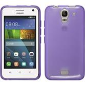 Silicone Case for Huawei Y360 transparent purple