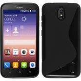 Silicone Case for Huawei Y625 S-Style black