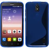 Silicone Case for Huawei Y625 S-Style blue