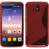 Silicone Case for Huawei Y625 S-Style red
