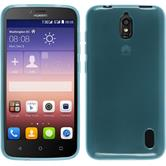 Silicone Case for Huawei Y625 transparent turquoise