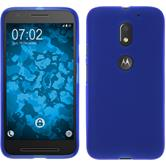 Silicone Case for Lenovo Moto E3 matt blue