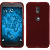 Silicone Case for Lenovo Moto E3 matt red