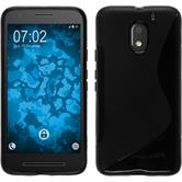 Silicone Case for Lenovo Moto E3 S-Style black