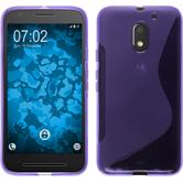 Silicone Case for Lenovo Moto E3 S-Style purple