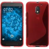 Silicone Case for Lenovo Moto E3 S-Style red