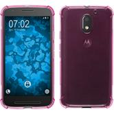 Silicone Case Moto E3 ShockProof hot pink