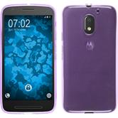 Silicone Case for Lenovo Moto E3 transparent purple