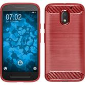 Silicone Case Moto E3 Ultimate red