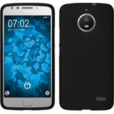 Silicone Case Moto E4 (EU Version) matt black + protective foils