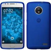 Silicone Case Moto E4 (EU Version) matt blue + protective foils
