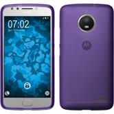 Silicone Case Moto E4 (EU Version) matt purple + protective foils