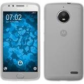 Silicone Case Moto E4 (EU Version) matt white + protective foils