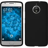 Silicone Case Moto E4 Plus (EU Version) matt black + protective foils