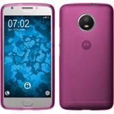 Silicone Case Moto E4 Plus (EU Version) matt hot pink + protective foils