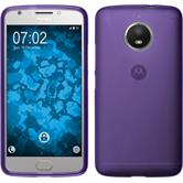 Silicone Case Moto E4 Plus (EU Version) matt purple + protective foils
